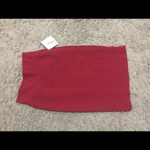 LulaRoe Cassie Skirt in red size xs